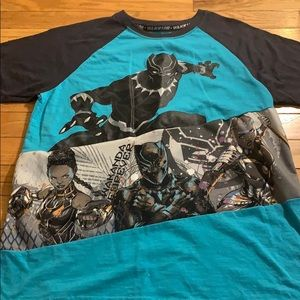 Marvel Avengers Black Panther Top Boys XL